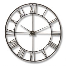 Antique Brown Metal Frame Wall Clock